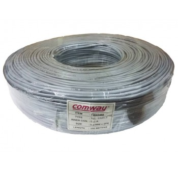 Comway 2 Pairs 0.6MM Telephone Cable ( 250M )